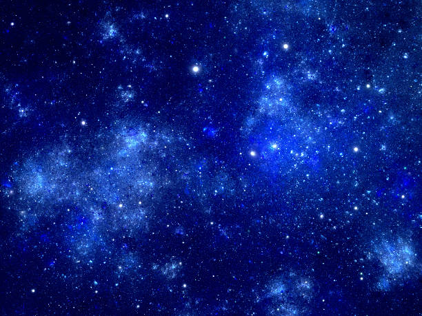bright blue nebula - space and astronomy stock photos and pictures