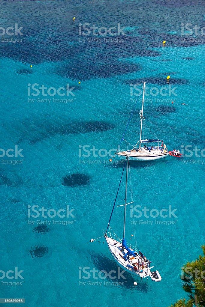 Bright blue shallow ocean royalty-free stock photo