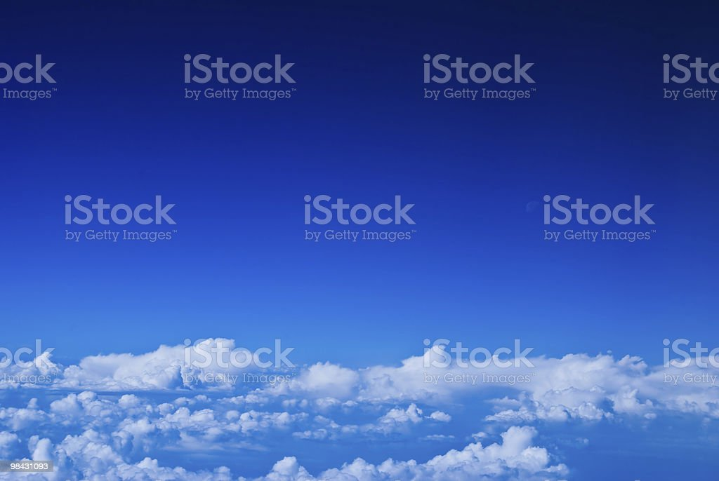 bright blue sky with obakami royalty-free stock photo