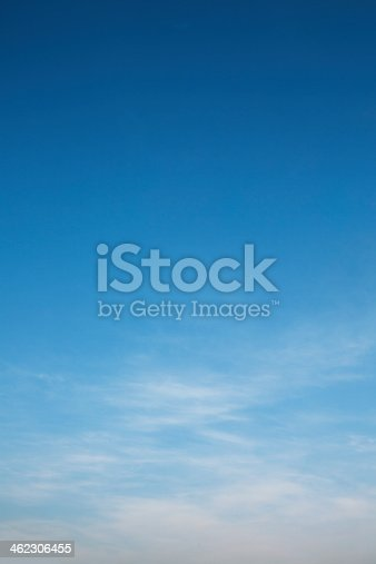istock A bright blue sky with white clouds 462306455