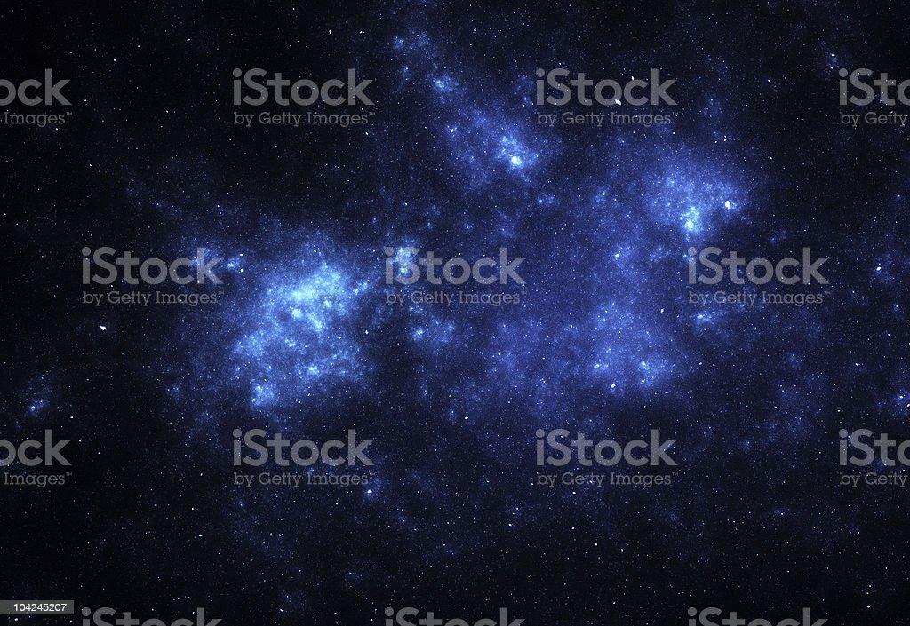 Bright blue space nebula stock photo