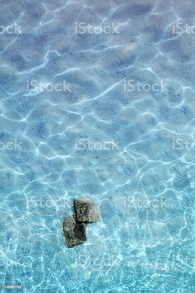Bright blue water stock photo