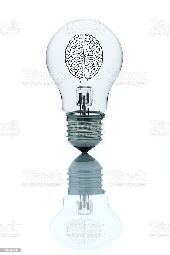 Bright brain, full of ideas stock photo