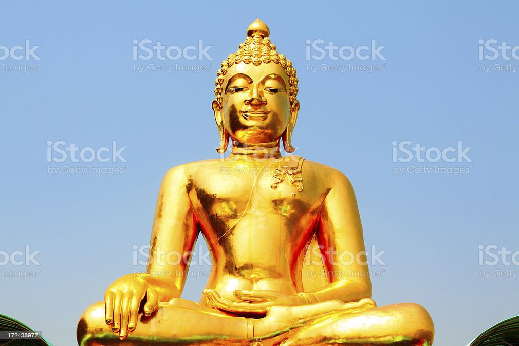 Bright Buddha of Golden Triangle royalty-free stock photo