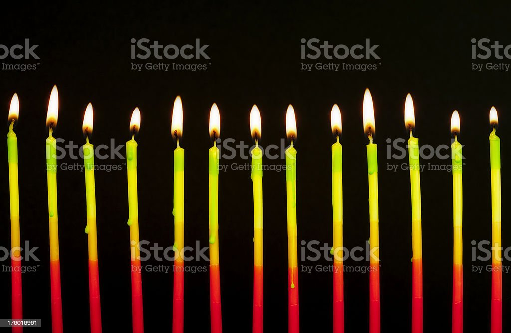 Bright Burning Candles royalty-free stock photo