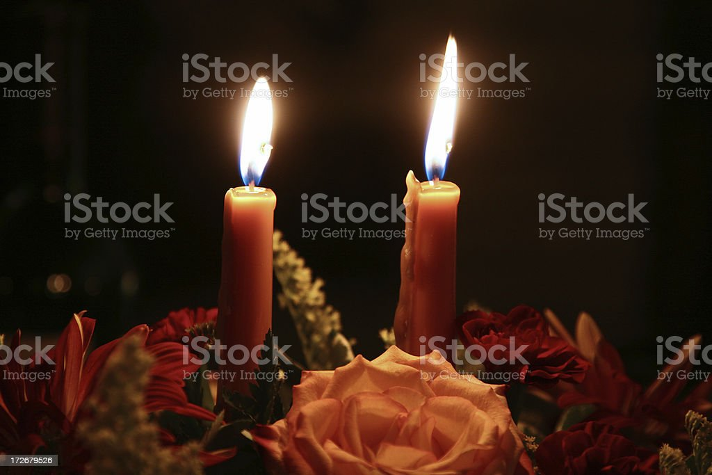 Bright Candles stock photo