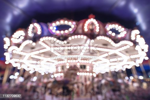 Bright carousel blur abstract background