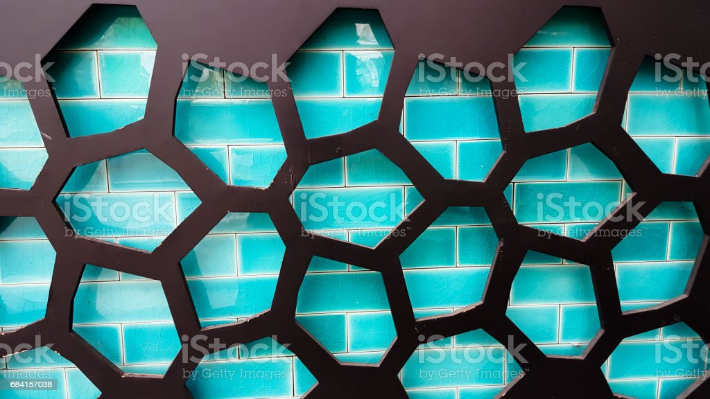 Bright ceramic Wall background and with concrete background zbiór zdjęć royalty-free