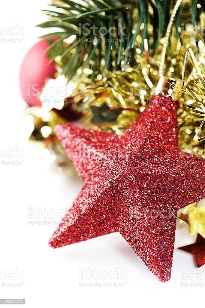Bright christmas composition with stars royalty-free stock photo