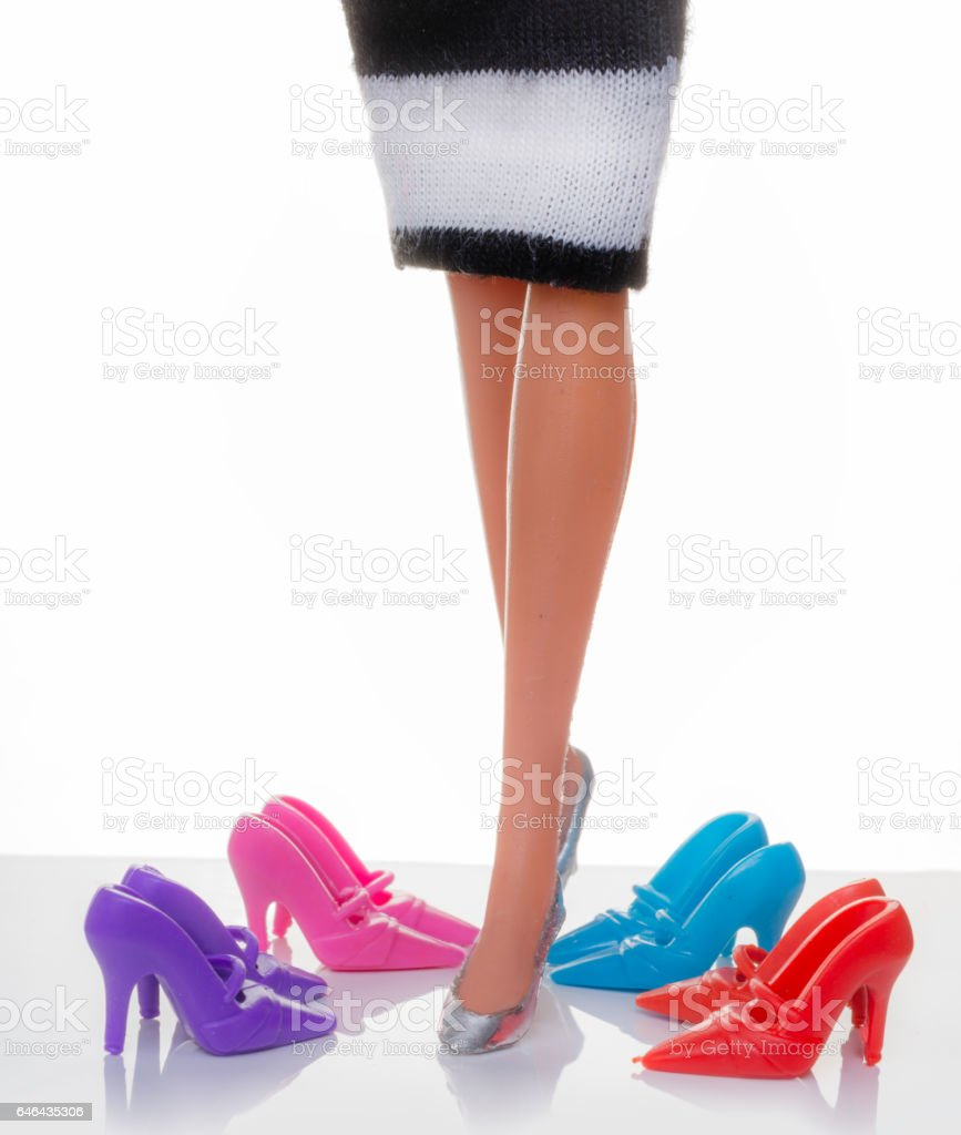 bright color toy heels stock photo