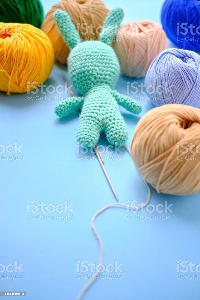 Amigurumi cotton yarn Crochet Bunny. Blue bunny... - Folksy | 1024x683