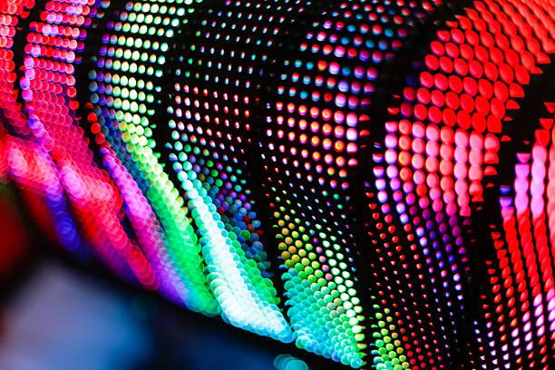 Farbige GEWÖLBTE LED-Bildschirm – Foto