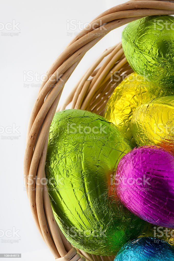 Bright colored easter eggs royalty-free stock photo