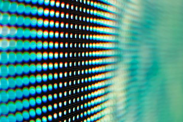 Hellen grünen und blauen SMD-LED-Fernseher – Foto