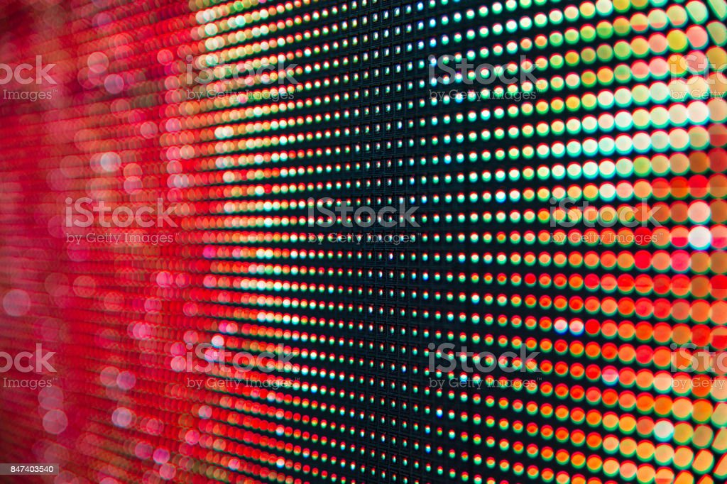 Bright colored LED smd screen stock photo