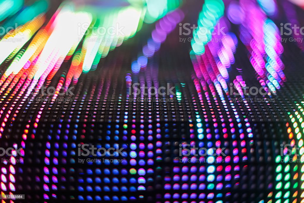 Bright colored LED smd wall with corner stock photo