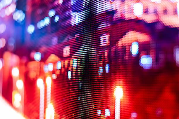 Farbige Bild im smd-LED-Fernseher – Foto