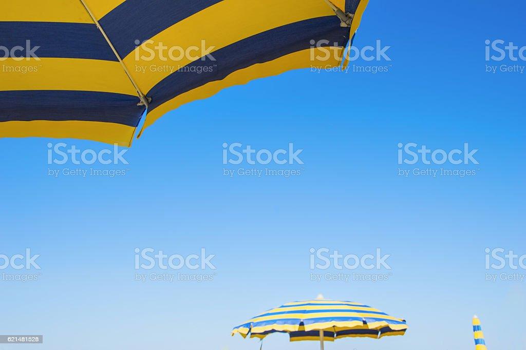 cdb1e6f18 Bright Colored Umbrellas On The Beach Stock Photo - Download Image ...