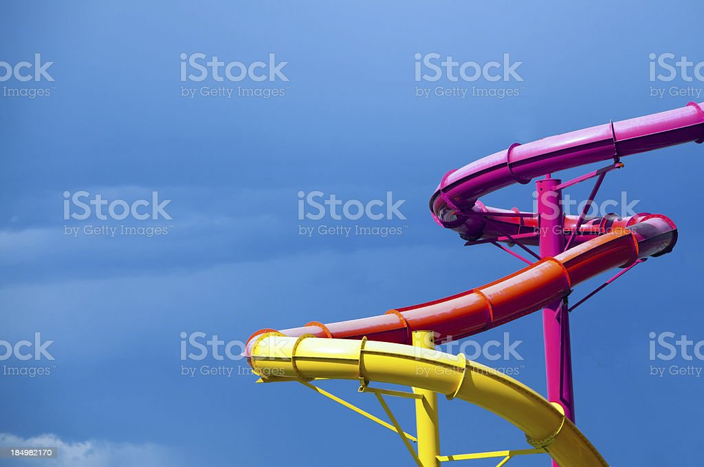 Bright Colored Water Slides stock photo