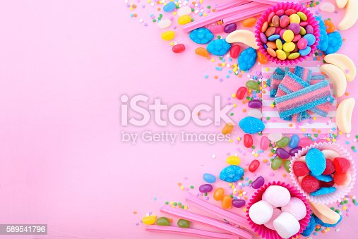 istock Bright colorful candy background 589541796