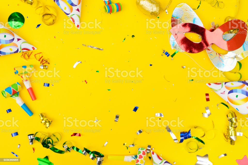 Bright colorful carnival or party scene stock photo
