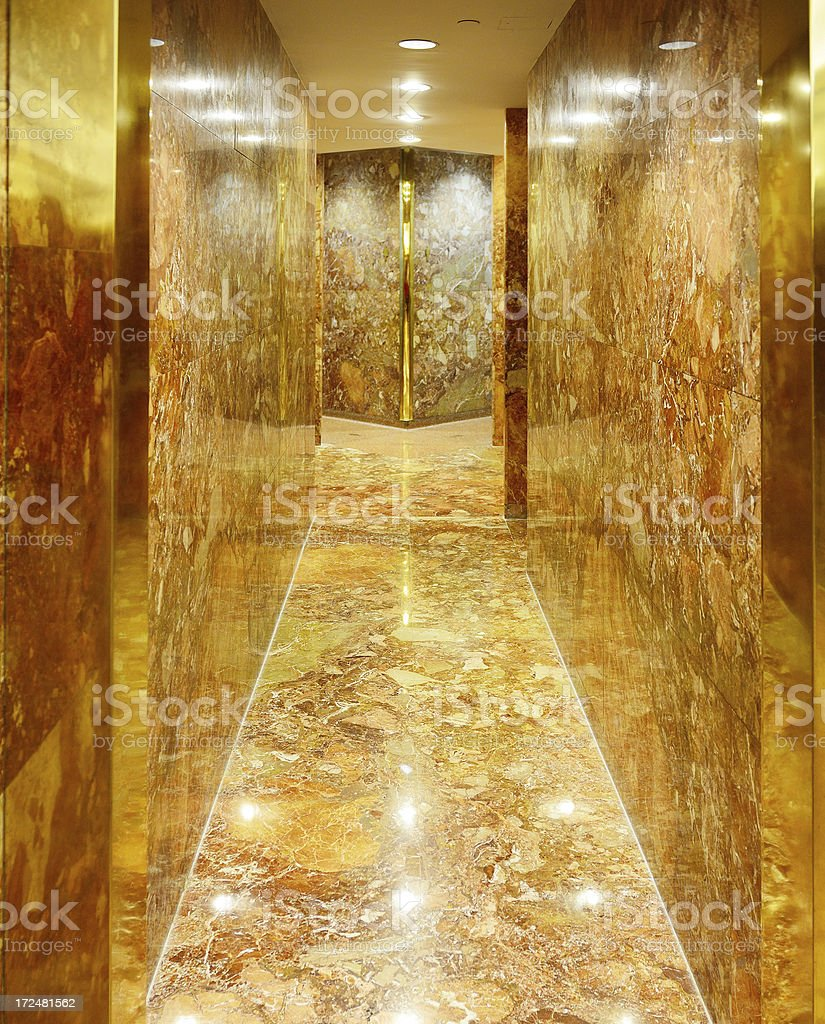 Bright, colorful marble entrance royalty-free stock photo