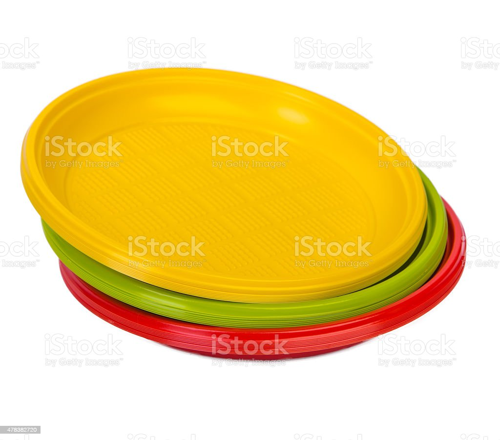 Bright colorful plastic plates royalty-free stock photo  sc 1 st  iStock & Bright Colorful Plastic Plates stock photo 478382720 | iStock