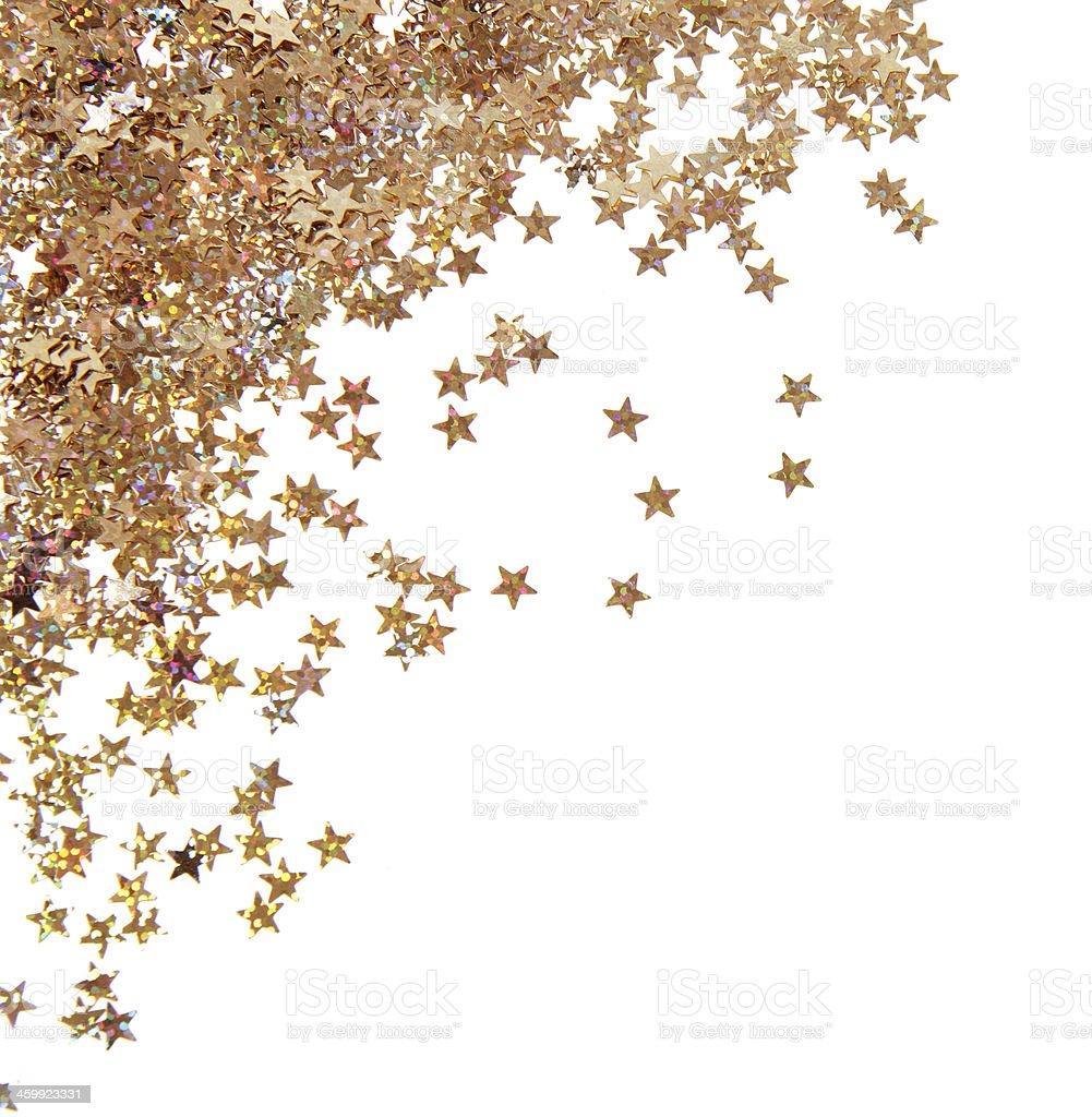 Bright confetti stock photo