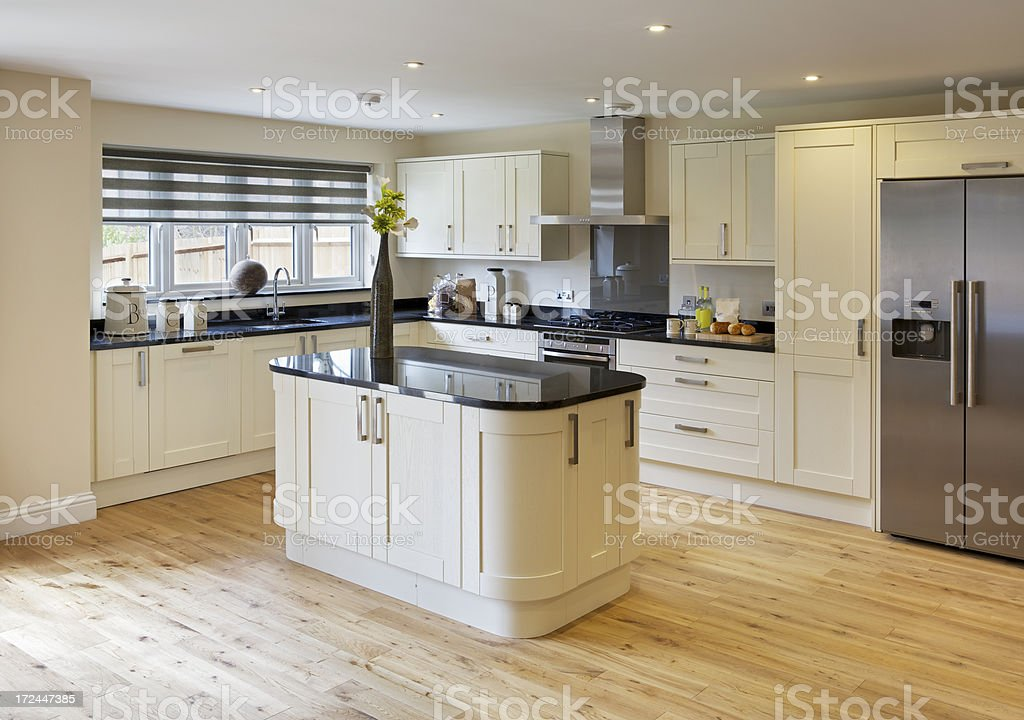 bright country style kitchen stock photo