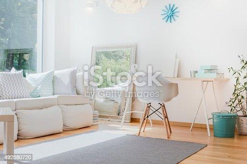 istock Bright cozy room 492580720