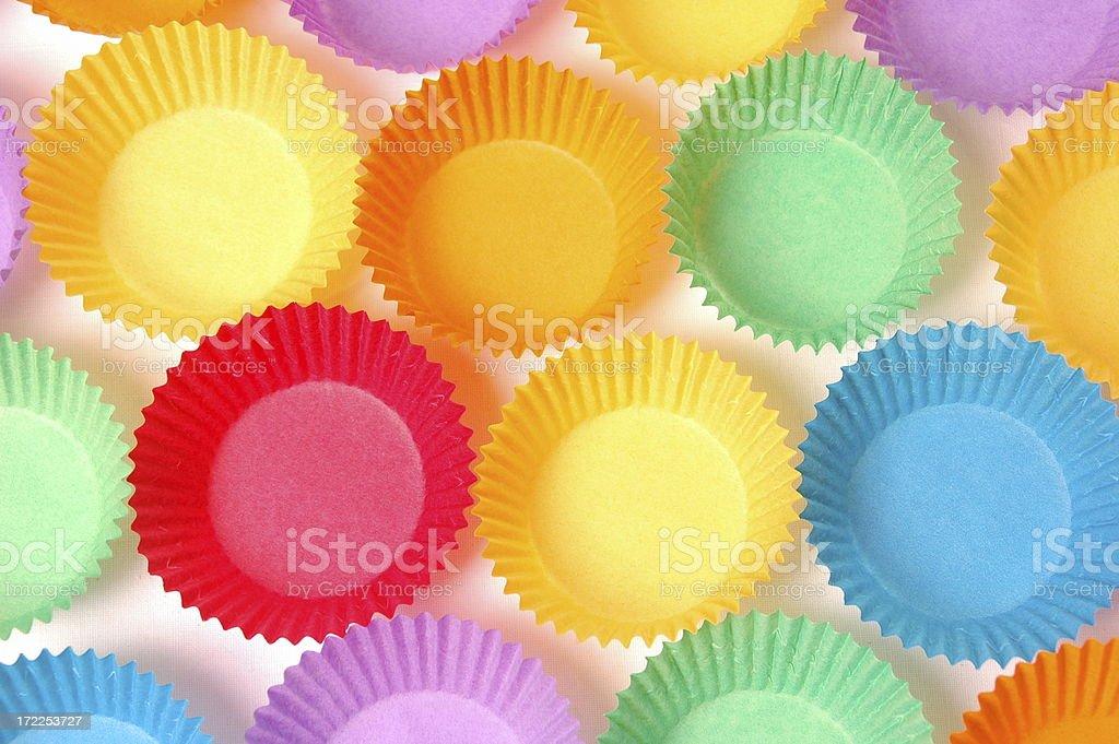 Bright Cupcake Holders stock photo