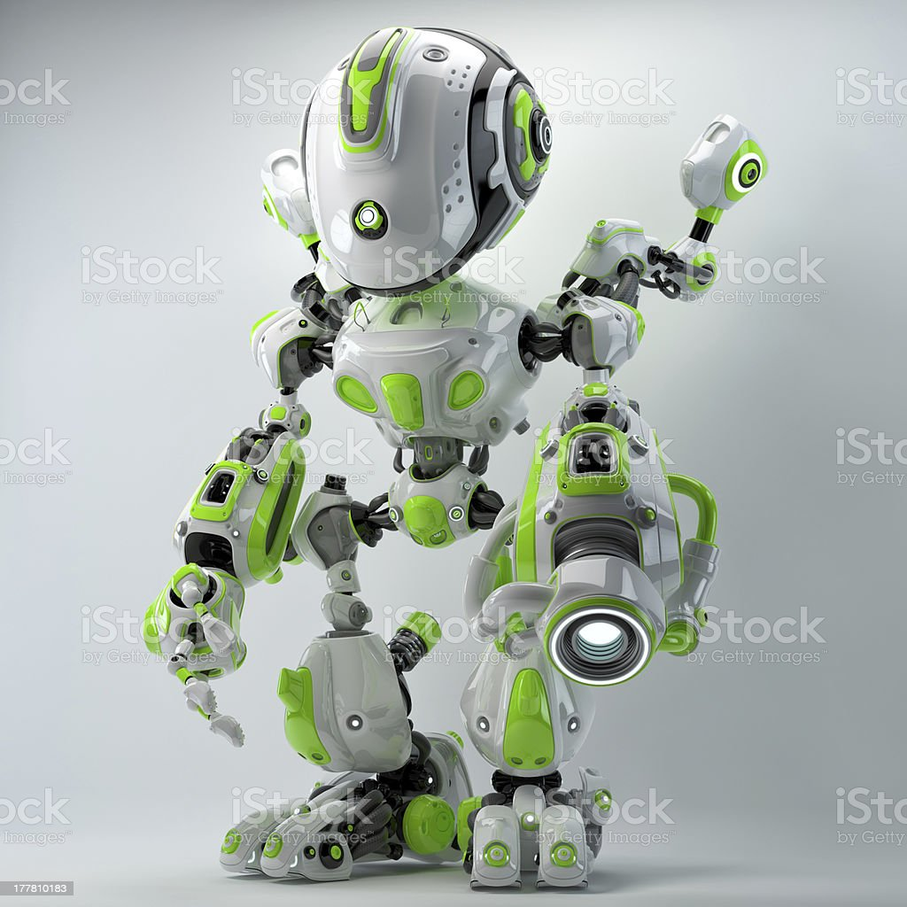 Bright cyber toy stock photo