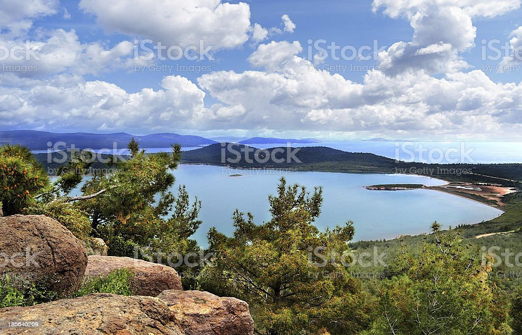 Bright day on the sea royalty-free stock photo