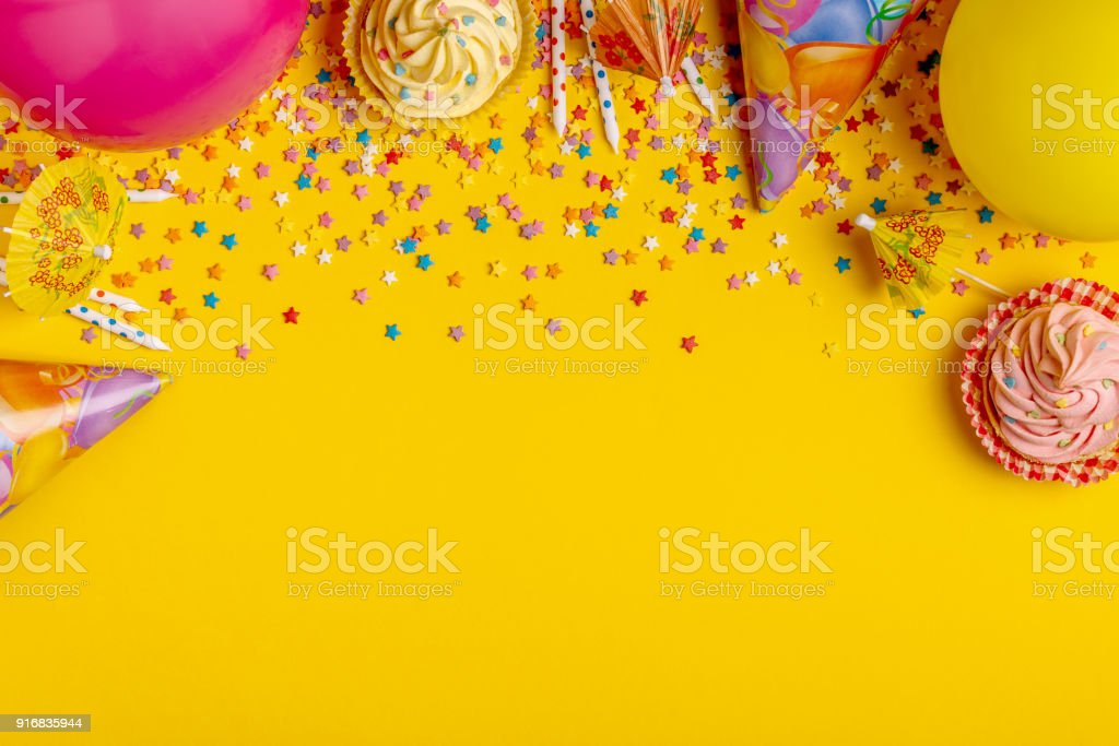 Bright decor for a birthday, party, festival or carnival stock photo