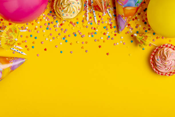 Bright decor for a birthday, party, festival or carnival - foto stock