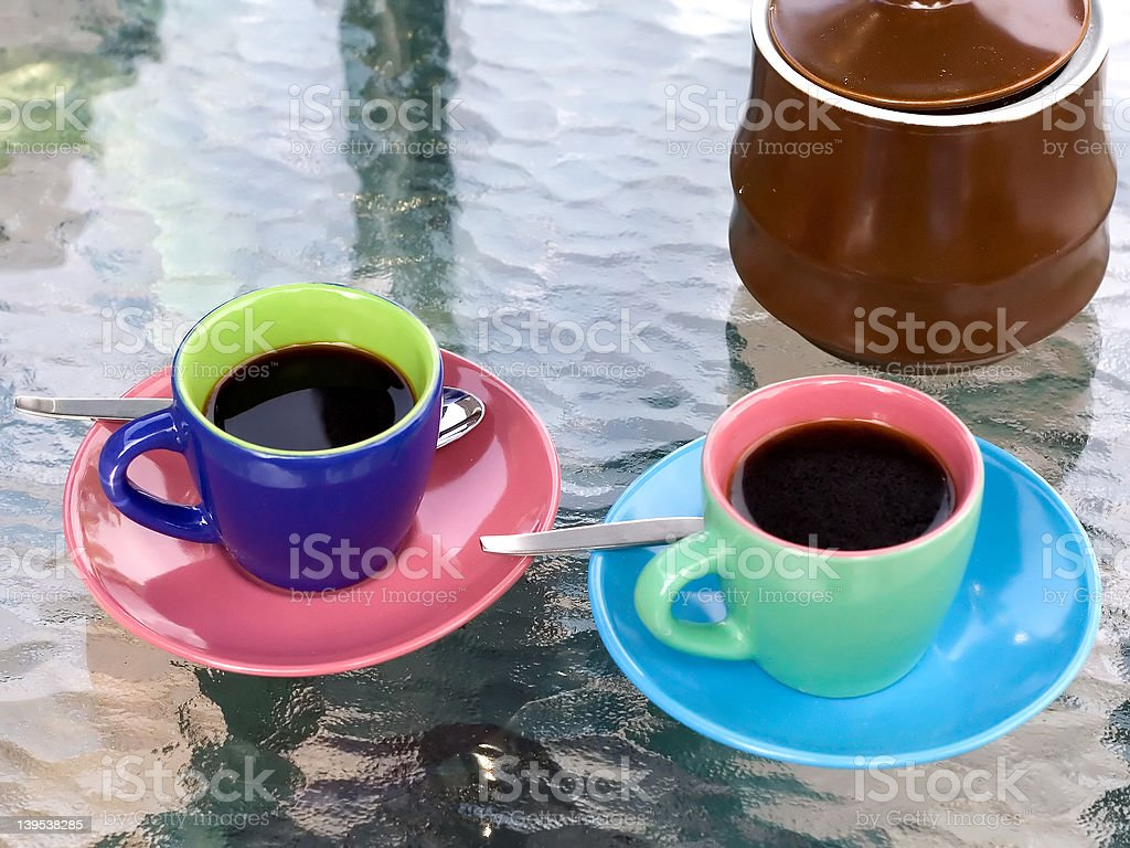 Bright espresso cups royalty-free stock photo