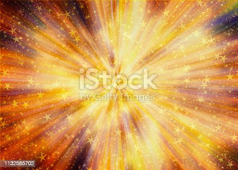 bright explosion fire speed burst backgrounds in space stars