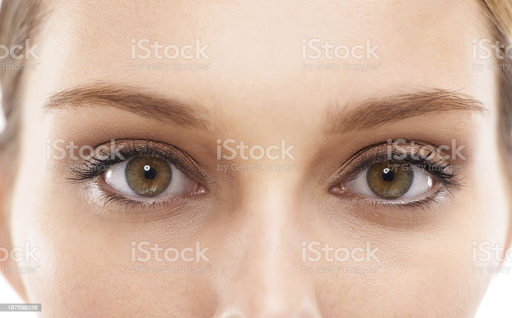 Bright eyed beauty stock photo