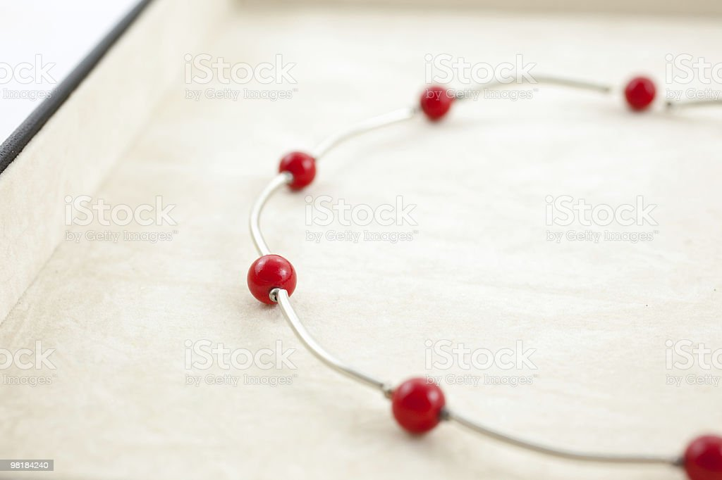 bright female necklace in jewelry box royalty-free stock photo