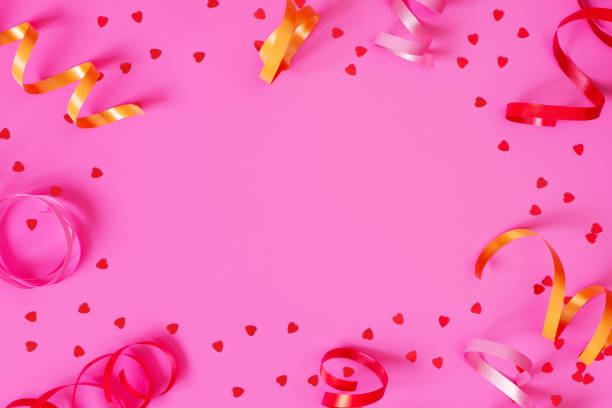 Bright festive pink background with streamers and hearts confetti picture id1093223438?b=1&k=6&m=1093223438&s=612x612&w=0&h=zvi43e4g3mwdytfdrujse2ft759mnkb93gfk9 rcw 8=
