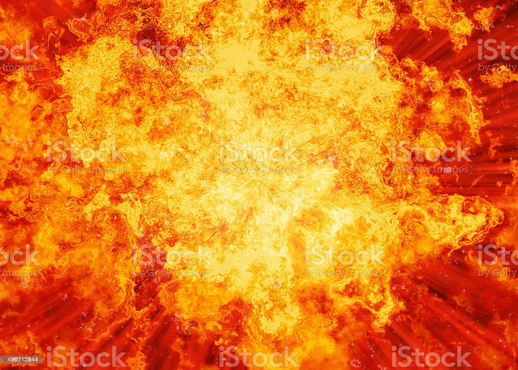 bright fire burst explosion flash background stock photo