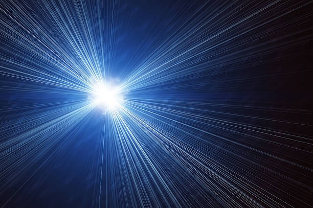 bright flash on a blue backgrounds bright flash on a blue backgrounds. explosion star. irradiation stock pictures, royalty-free photos & images