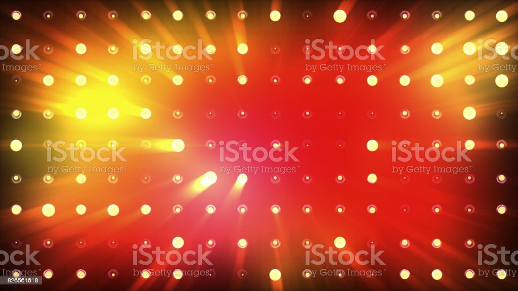 Bright floods of orange light flash very brightly. stock photo