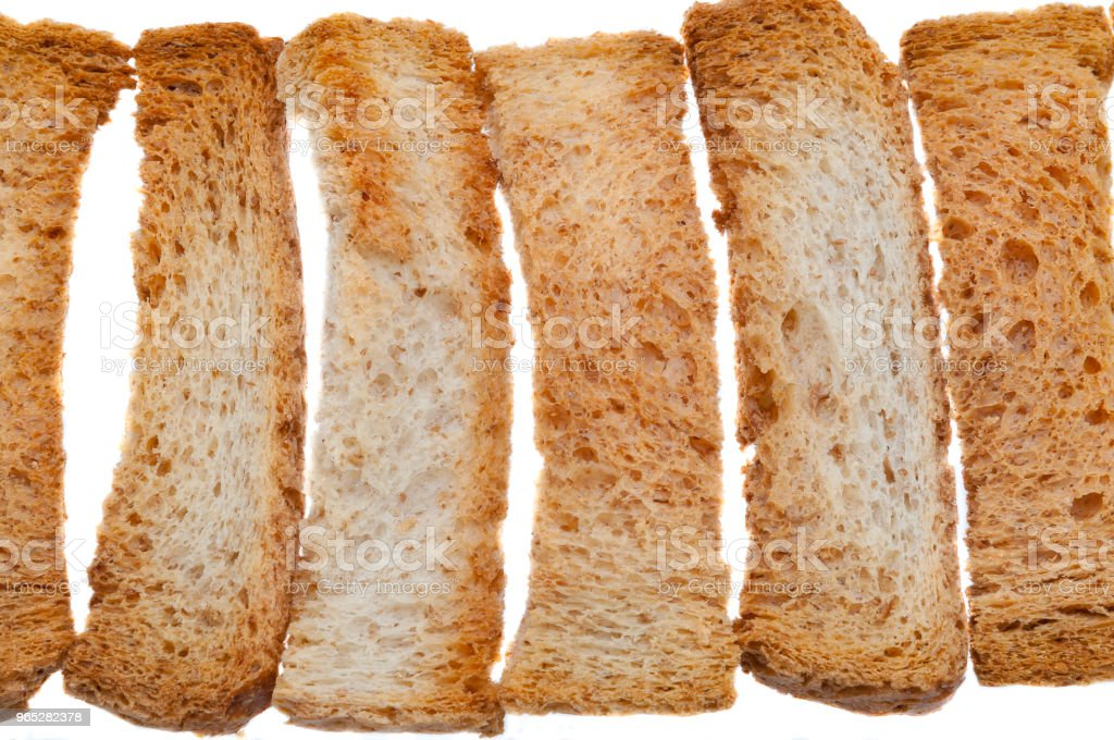 Bright fresh bread rolls made of white wheat bread on a white background. royalty-free stock photo
