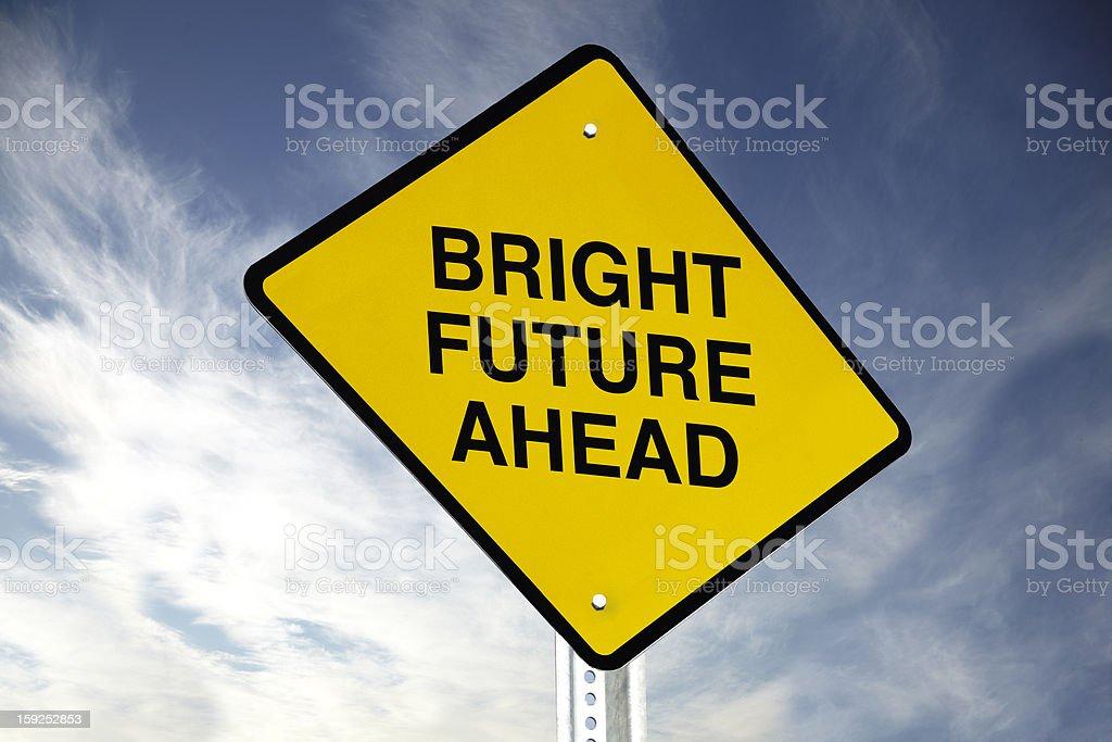 Bright future ahead royalty-free stock photo