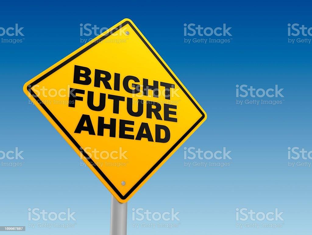 bright future ahead sign royalty-free stock photo