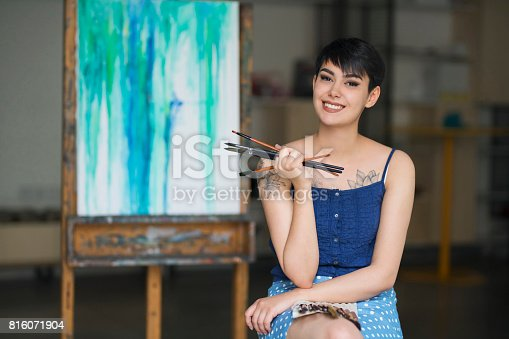 istock Bright Future Awaits Young Artist 816071904