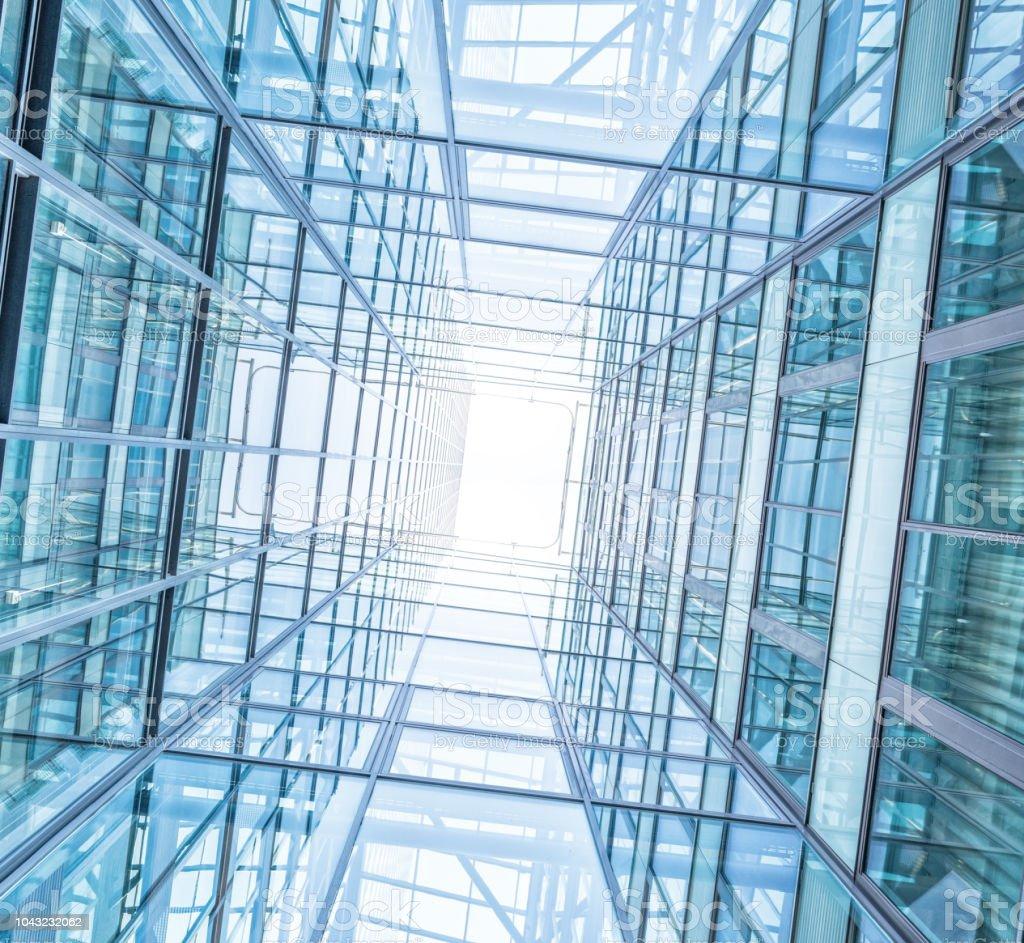 Parlak Bir Gelecek Asagidan Gorulen Finans Binalar Stok