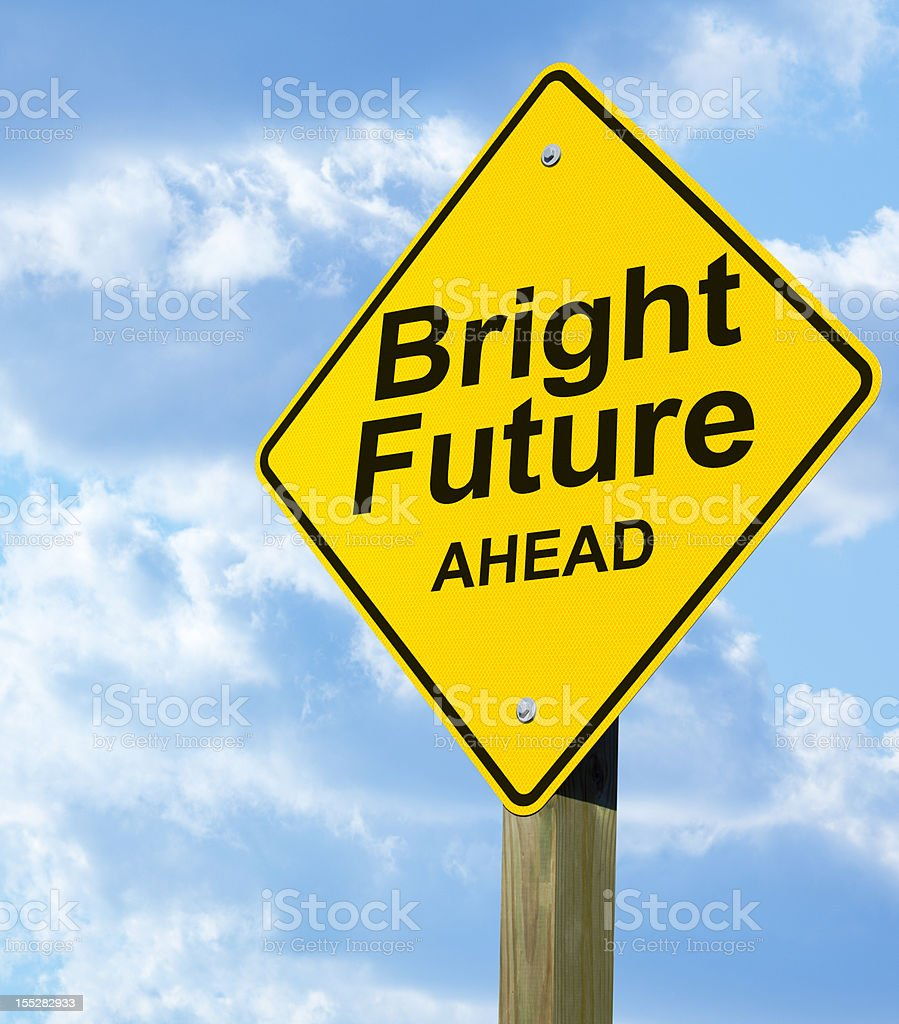 Bright Future Road Sign Stock Photo & More Pictures Of