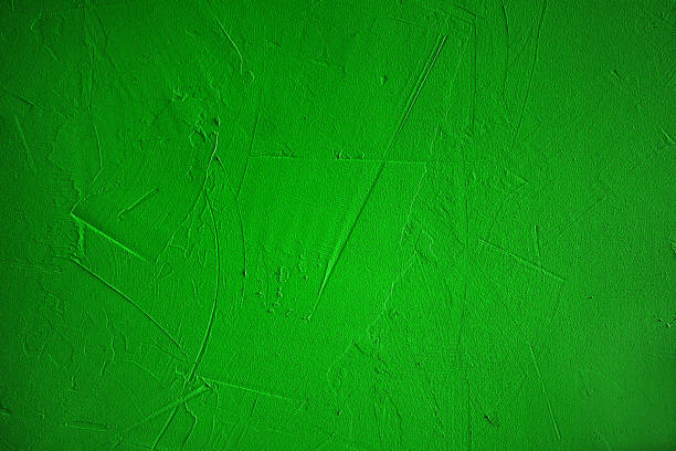 Bright green concrete background, texture stock photo